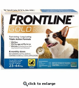 6 Month Frontline Gold for Dogs 23-44 lbs.