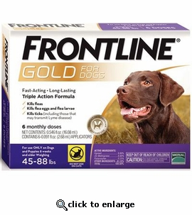 6 Month Frontline Gold for Dogs 45-88 lbs.