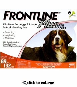 6 month Frontline Plus for Dogs 89-132 lbs