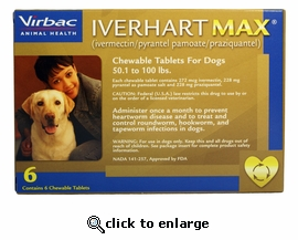 6 MONTH Iverhart Max 50.1-100 lbs