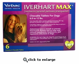 6 MONTH Iverhart Max 6-12 lbs