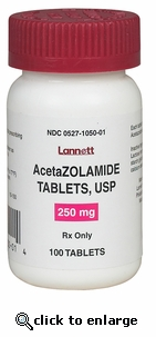 Acetazolamide 250mg sold per tablet