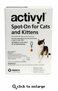 Activyl for Cats 2-9 lbs 6 Pack
