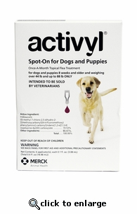 Activyl for Dogs 44-88 lbs 6 Pack
