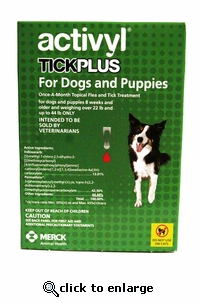Activyl Tick Plus for Dogs 22-44 lbs 6 Pack