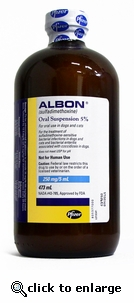 Albon Suspension 5% 16 oz (473mL)
