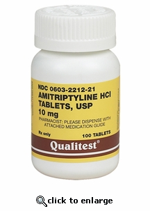 Amitriptyline HCL 10 mg 100 ct