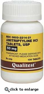 Amitriptyline HCL 50 mg per tablet