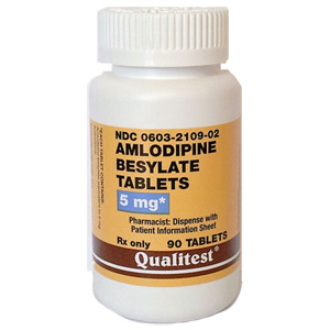 Qualitest Amlodipine 5mg per tablet