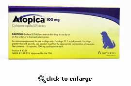 Atopica Blue 100mg 15 Capsules
