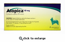 Atopica Green 10mg 15 Capsules