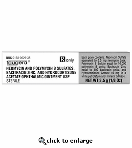 B.N.P. Triple Antibiotic with HC Ophthalmic Ointment 1/8oz