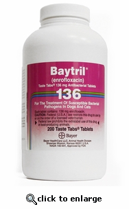 Baytril 136 mg per Chewable Tab