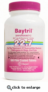 Baytril 22.7 mg per Chewable Tab