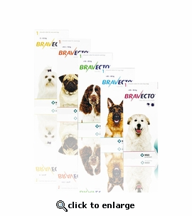 Bravecto 112.5 mg for dogs 4.4-9.9 lbs 6 TABLETS