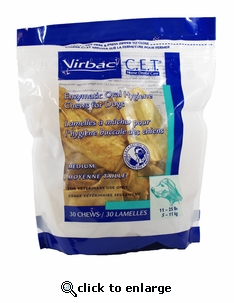 C.E.T. Enzymatic Oral Hygiene Chews for Dogs Large 30 ct