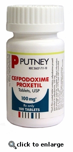 Cefpodoxime Proxetil 100 mg per tablet