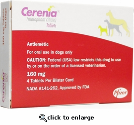 Cerenia 160 mg 4 tablets
