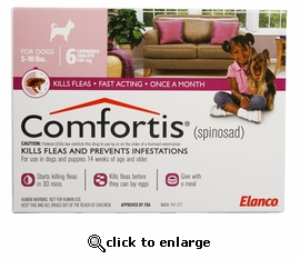 Comfortis 140mg for Cats 4.1-6 lbs & Dogs 5-10 lbs 6 PK