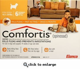 Comfortis 270mg for Cats 6.1-12 lbs & Dogs 10-20 lbs 6 PK
