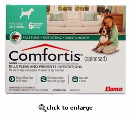 Comfortis 560mg for Cats 12.1-24 lbs & Dogs 20-40 lbs 6 PK