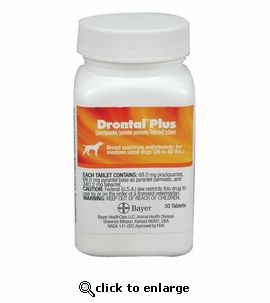 Drontal Plus for Dogs 68 mg (medium) per tablet