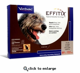 Effitix Topical Solution for Dogs 89 132 lbs Single
