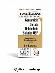 Gentamicin 0.3% Sulfate Ophthalmic Solution 5ml Bottle