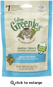 Greenies Feline Dental Treats - Ocean Fish 2.5oz