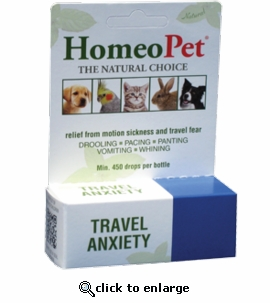 Homeopet Travel Anxiety Natural Remedy 15mL