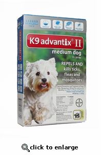 K9 ADVANTIX II Teal for dogs 11-20 lbs 12 Pack