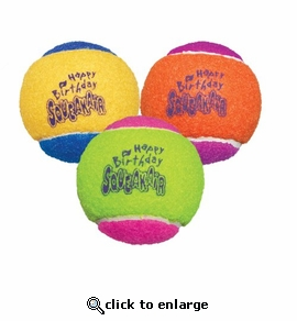 Kong Air Dog Squeakair Birthday Balls Dog Toy Medium 3-Pack