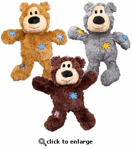 Kong Wild Knots Squeaker Bears Med/Lrg (Colors Vary)