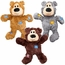 Kong Wild Knots Squeaker Bears Sm/Med (Colors Vary)