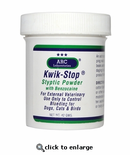 Kwik Stop Styptic Powder with Benzocaine 14g