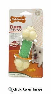 Nylabone Dura Chew Bacon Double Action Bone Dog Chew Regular