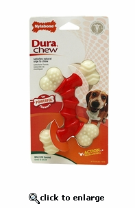 Nylabone Dura Chew Bacon Double Bone Wolf