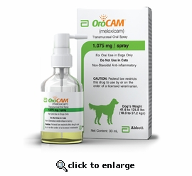 OroCam (meloxicam) for Dogs 33 mL