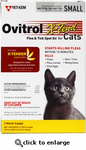 Ovitrol X-tend for Cats 2.5-5lbs 3 Month