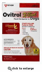 Ovitrol X-tend for Dogs 56-80lbs 3 Month