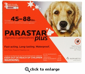 Parastar Plus for Dogs 45-88 lbs