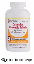 Putney Carprofen Chewable Tablets 75mg per tablet