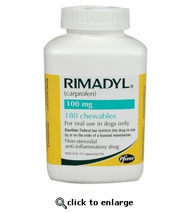 Rimadyl 100mg 180 chewables