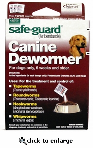 Safe-Guard Canine 4g 3pk