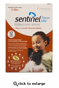 Sentinel Red 12 MONTH for Dogs and Puppies 2-10lbs
