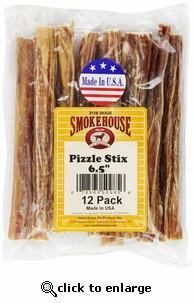 Smokehouse Pizzle Sticks 6-1/2-Inch Dog Treats, 12-Pack