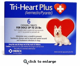 Tri-Heart Plus For Dogs Up To 25lbs 12 Month Supply