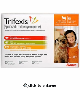 Trifexis 10.1-20lbs 270mg 12 month