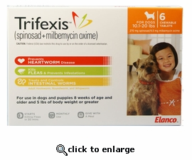 Trifexis 10.1-20lbs 270mg 6 month