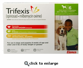 Trifexis 20.1-40lbs 560mg 12 month